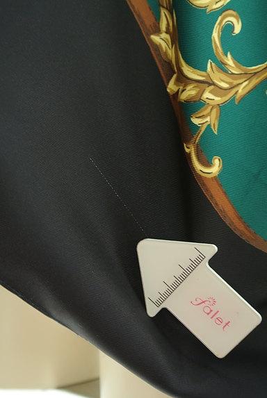 BABYLONE(バビロン)の古着「スカーフ柄袖フリンジカットソー(カットソー・プルオーバー)」大画像5へ
