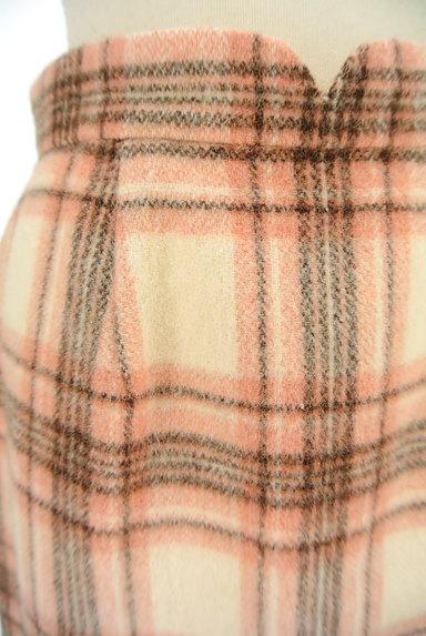 MISCH MASCH(ミッシュマッシュ)の古着「ふわふわチェック柄ミニスカート(ミニスカート)」大画像4へ