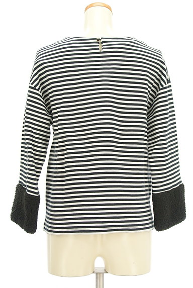 Ketty Cherie(ケティ シェリー)の古着「ボア袖ボーダーカットソー(カットソー・プルオーバー)」大画像2へ
