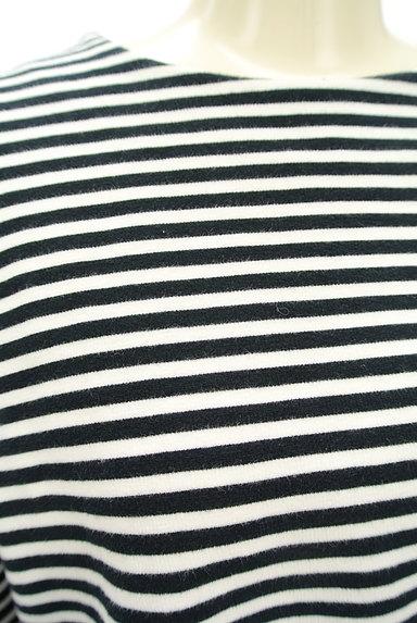Ketty Cherie(ケティ シェリー)の古着「ボア袖ボーダーカットソー(カットソー・プルオーバー)」大画像4へ