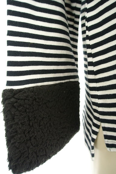 Ketty Cherie(ケティ シェリー)の古着「ボア袖ボーダーカットソー(カットソー・プルオーバー)」大画像5へ