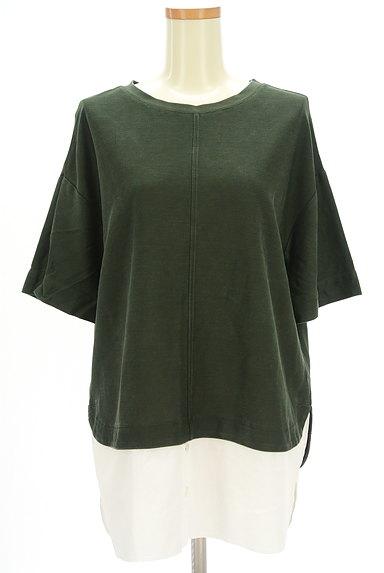 MAYSON GREY(メイソングレイ)の古着「裾シャツ切替5分袖カットソー(カットソー・プルオーバー)」大画像1へ