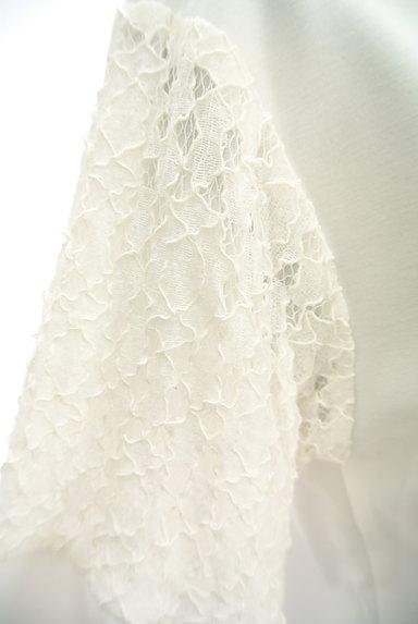 Ketty Cherie(ケティ シェリー)の古着「刺繍レース切替カットソー(カットソー・プルオーバー)」大画像4へ