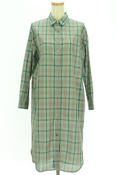 MAYSON GREY(メイソングレイ)の古着「チェックシアーロングシャツ(カジュアルシャツ)」大画像1へ