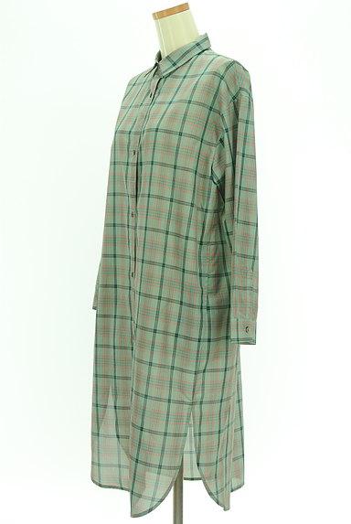 MAYSON GREY(メイソングレイ)の古着「チェックシアーロングシャツ(カジュアルシャツ)」大画像3へ