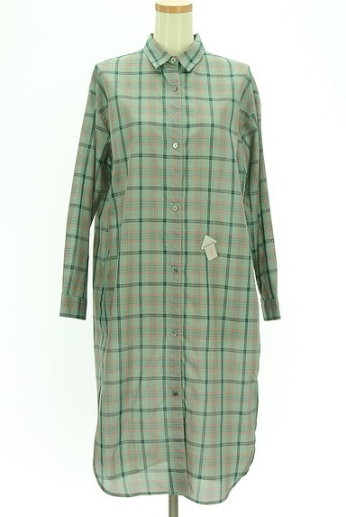 MAYSON GREY(メイソングレイ)の古着「チェックシアーロングシャツ(カジュアルシャツ)」大画像4へ