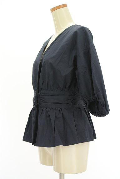 Ketty Cherie(ケティ シェリー)の古着「カシュクールペプラムカットソー(カットソー・プルオーバー)」大画像3へ