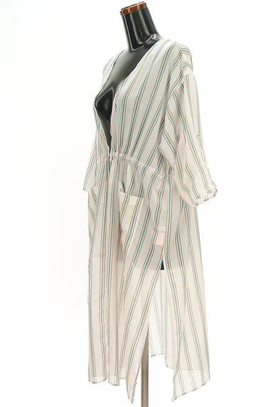 VICKY(ビッキー)の古着「シアーストライプロングカーディガン(カーディガン・ボレロ)」大画像3へ