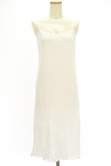 rienda(リエンダ)の古着「プリーツ裾レイヤードニットワンピ(キャミワンピース)」大画像5へ