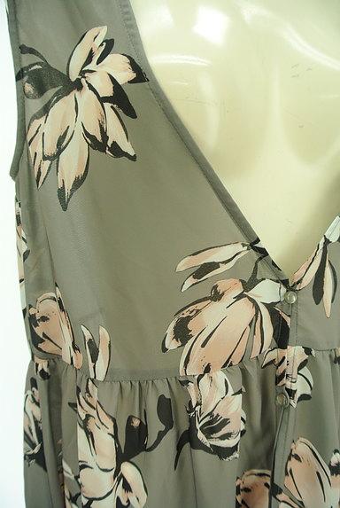 rienda(リエンダ)の古着「花柄シフォンロングジレ(ベスト・ジレ)」大画像4へ