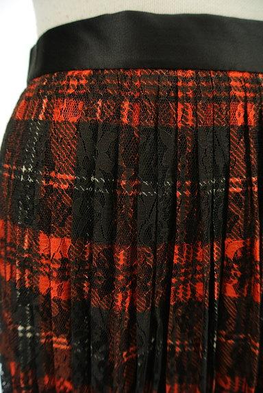 MOUSSY(マウジー)の古着「チェック柄レースプリーツスカート(ロングスカート・マキシスカート)」大画像4へ