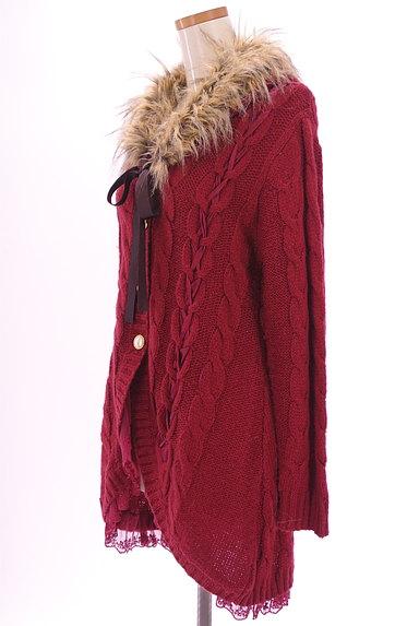 axes femme(アクシーズファム)の古着「ファー付きケーブルロングカーデ(カーディガン・ボレロ)」大画像3へ