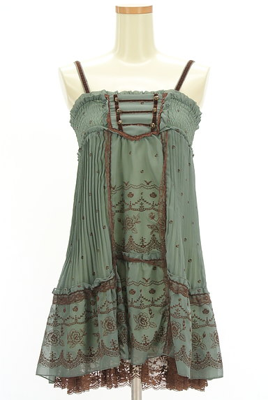 axes femme(アクシーズファム)の古着「フロッキー花柄シフォンキャミワンピ(キャミワンピース)」大画像1へ
