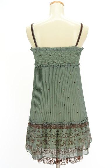 axes femme(アクシーズファム)の古着「フロッキー花柄シフォンキャミワンピ(キャミワンピース)」大画像2へ