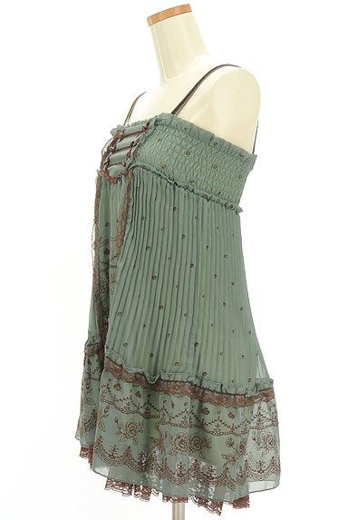 axes femme(アクシーズファム)の古着「フロッキー花柄シフォンキャミワンピ(キャミワンピース)」大画像3へ