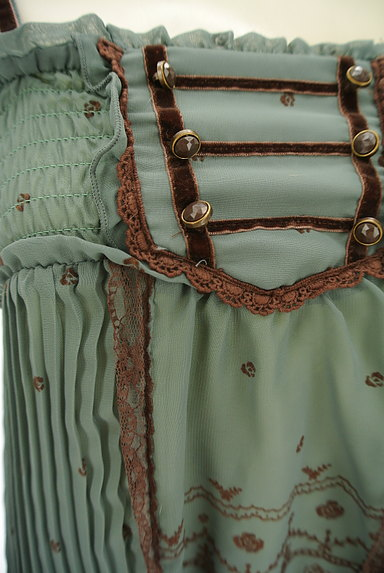 axes femme(アクシーズファム)の古着「フロッキー花柄シフォンキャミワンピ(キャミワンピース)」大画像4へ