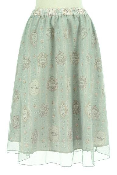 axes femme(アクシーズファム)の古着「ロマンティック柄チュールスカート(スカート)」大画像1へ