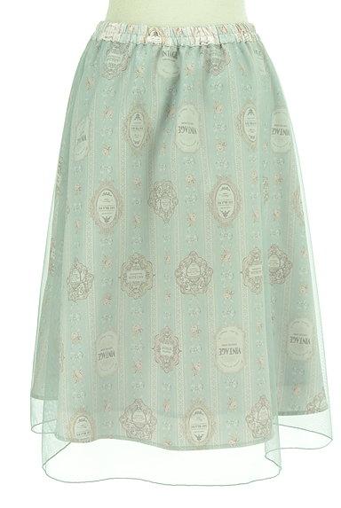 axes femme(アクシーズファム)の古着「ロマンティック柄チュールスカート(スカート)」大画像2へ