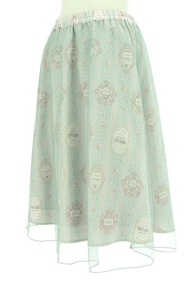 axes femme(アクシーズファム)の古着「ロマンティック柄チュールスカート(スカート)」大画像3へ