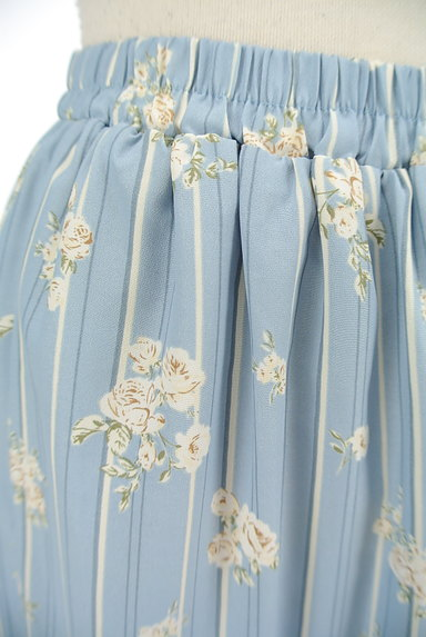 axes femme(アクシーズファム)の古着「花柄×ストライプフレアスカート(ロングスカート・マキシスカート)」大画像4へ