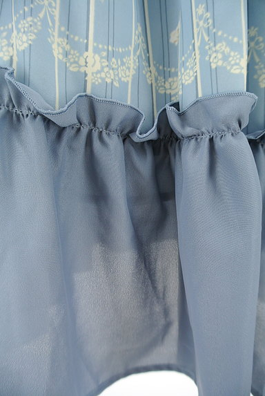 axes femme(アクシーズファム)の古着「花柄×ストライプフレアスカート(ロングスカート・マキシスカート)」大画像5へ
