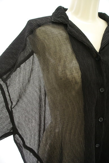 EVRIS(エヴリス)の古着「シアーオーバーサイズシャツ(カジュアルシャツ)」大画像4へ