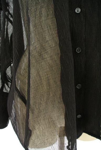 EVRIS(エヴリス)の古着「シアーオーバーサイズシャツ(カジュアルシャツ)」大画像5へ