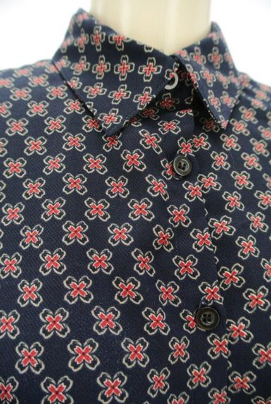 EVRIS(エヴリス)の古着「ショート丈花柄シャツ(カジュアルシャツ)」大画像4へ