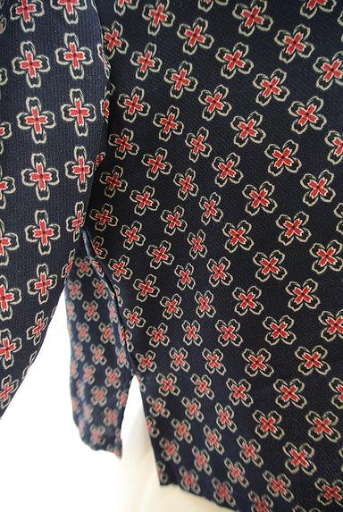 EVRIS(エヴリス)の古着「ショート丈花柄シャツ(カジュアルシャツ)」大画像5へ
