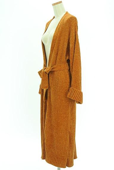 EVRIS(エヴリス)の古着「ベロア調リブニットロングカーデ(カーディガン・ボレロ)」大画像3へ