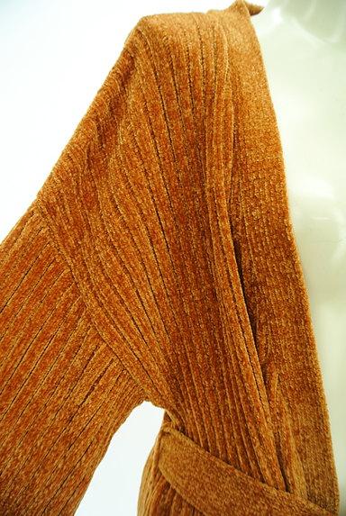 EVRIS(エヴリス)の古着「ベロア調リブニットロングカーデ(カーディガン・ボレロ)」大画像4へ