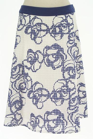 Harrods(ハロッズ)の古着「花柄シアーチェックフレアスカート(スカート)」大画像1へ