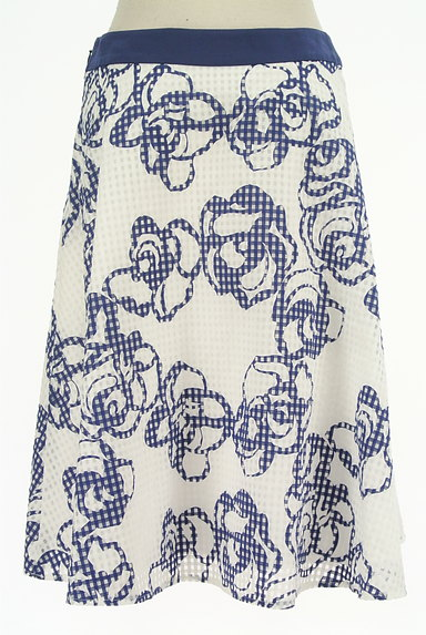 Harrods(ハロッズ)の古着「花柄シアーチェックフレアスカート(スカート)」大画像2へ