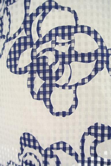 Harrods(ハロッズ)の古着「花柄シアーチェックフレアスカート(スカート)」大画像5へ