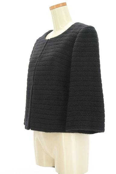 M-premier(エムプルミエ)の古着「アンゴラ混ノーカラーショートコート(コート)」大画像3へ