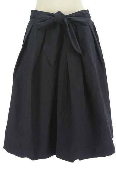 TO BE CHIC(トゥービーシック)の古着「ウエストリボンシワ加工フレアスカート(スカート)」大画像1へ