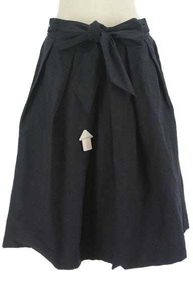 TO BE CHIC(トゥービーシック)の古着「ウエストリボンシワ加工フレアスカート(スカート)」大画像4へ