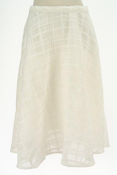 TO BE CHIC(トゥービーシック)の古着「膝下丈チェック柄オーガンジースカート(ロングスカート・マキシスカート)」大画像1へ