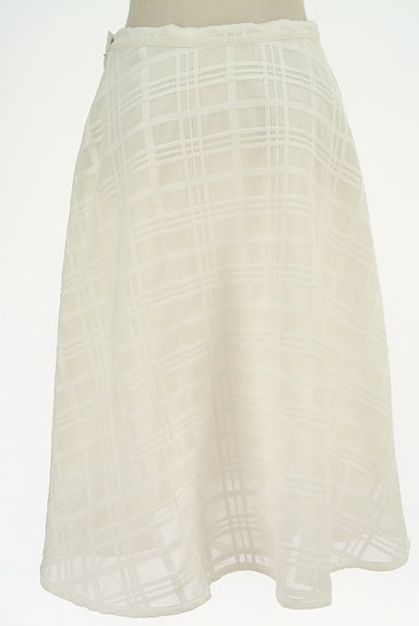 TO BE CHIC(トゥービーシック)の古着「膝下丈チェック柄オーガンジースカート(ロングスカート・マキシスカート)」大画像2へ