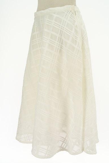 TO BE CHIC(トゥービーシック)の古着「膝下丈チェック柄オーガンジースカート(ロングスカート・マキシスカート)」大画像3へ