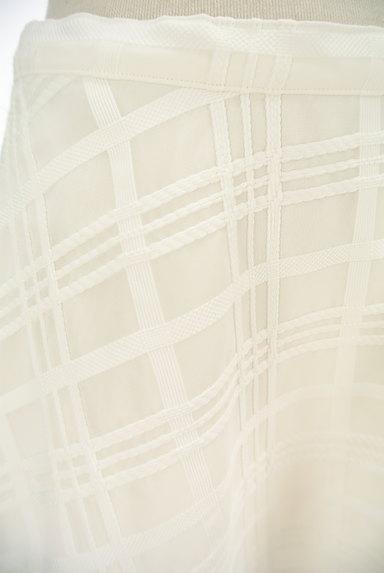 TO BE CHIC(トゥービーシック)の古着「膝下丈チェック柄オーガンジースカート(ロングスカート・マキシスカート)」大画像4へ