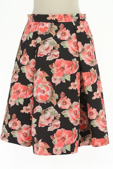 TO BE CHIC(トゥービーシック)の古着「花柄タックフレアスカート(スカート)」大画像1へ