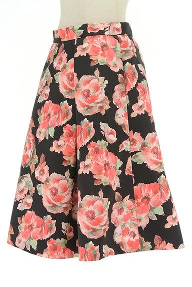 TO BE CHIC(トゥービーシック)の古着「花柄タックフレアスカート(スカート)」大画像3へ