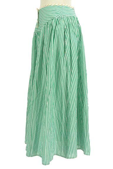 POU DOU DOU(プードゥドゥ)の古着「ストライプ柄ミモレ丈スカート(ロングスカート・マキシスカート)」大画像3へ
