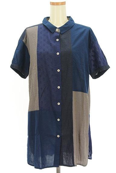 POU DOU DOU(プードゥドゥ)の古着「パッチワーク風シャツ(カジュアルシャツ)」大画像1へ