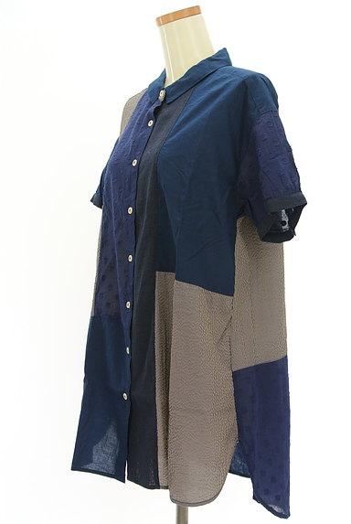 POU DOU DOU(プードゥドゥ)の古着「パッチワーク風シャツ(カジュアルシャツ)」大画像3へ