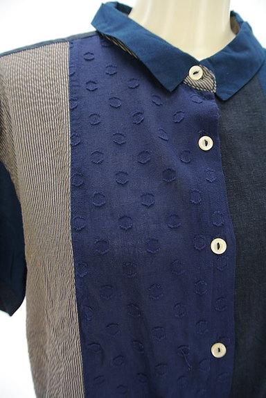 POU DOU DOU(プードゥドゥ)の古着「パッチワーク風シャツ(カジュアルシャツ)」大画像4へ