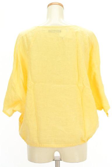 ROSSO(ロッソ)の古着「ドルマン五分袖リネンカットソー(カットソー・プルオーバー)」大画像2へ
