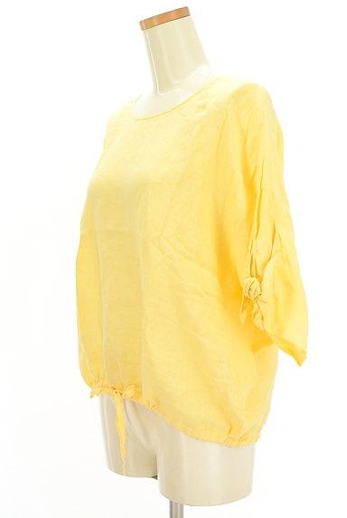ROSSO(ロッソ)の古着「ドルマン五分袖リネンカットソー(カットソー・プルオーバー)」大画像3へ
