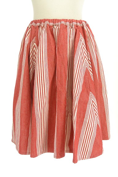 BEAMS Women's(ビームス ウーマン)の古着「ストライプ柄膝丈フレアスカート(スカート)」大画像1へ